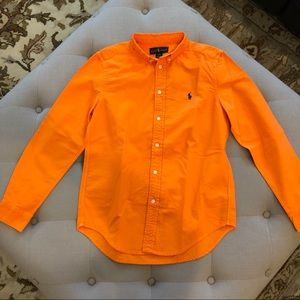 Polo Ralph Lauren Orange Button Down Shirt